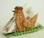 МК плетение из соломки и бумажной лозы