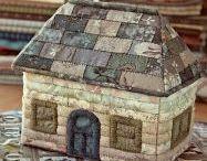 домики текстильные и не только.... / домики-вышитые, связанные, вылепленные, нарисованные. домики в любой технике)))