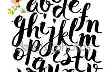 Lettering / Ejemplos para decorar agenda, flamecos y guineos