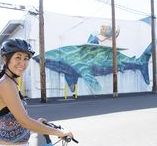 Bicycle tour of Kakaako street art POW!WOW! Worldwide / Hawaii bike rides around Kakaako for street art and gastropubs