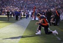T ~ Tim Tebow....Praying Player / Football # Sports Caster # CHRISTIAN First ... John 3:16  / by Linda Sherrin