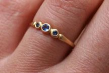 rings / searching for small nontraditional engagement rings and wedding bands
