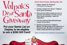 "Dear Santa Giveaway / Put you Santa List on Display to be eligible to win a $250 Gift Card!  Here's How to Enter:  1. Follow Valpak on Pinterest (Pinterest.com/Valpak) 2. Create a board and name it ""Valpak's Dear Santa Giveaway"" 3. Start Pinning! What would you love to have for the Holidays? Check out our ""Dear Santa Giveaway"" board for inspiration 4. Use the hashtag #SantaPakSweeps in each of your pins 5. Leave a comment on the BehindTheBlue blog, be sure to include your name, email and link to your Pinterest Board! / by Valpak"