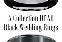 Black Wedding Rings / A collection of the most unique all black tungsten wedding rings.  These mens black tungsten wedding bands are the most durable and comfortable bands to wear. Modern and classy.