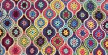 Crochet Blankets / Blanket patterns. instructions and recommended stitches to make crocheted blankets.
