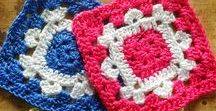 Crochet Granny Squares / Patterns for crocheted squares often called Granny Squares