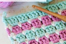 Crochet Stitches / A collection of how to make different types of crochet stitches and their variations.