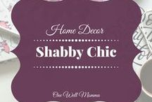 Shabby Chic - Home Decor / Ideas to decorate you home to look shabby chic. Rustic decor, country decor, shabby chic home decorations