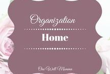 Organization Ideas for the Home / Tips Ideas and resources to organize your home