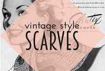Vintage Styling | Scarves / Styling inspiration for scarves and neckerchiefs, perfect for winter pinup outfits!