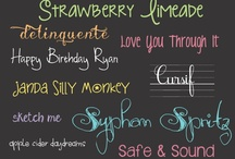Fonts, Typography, Writing & Ampersands / by Maud Juliette