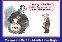 Hood Robins: Stealing from the poor to give to the rich / The republicans are the party of Robin Hood--in reverse.  They take from the poor and give to the rich.  They want more tax breaks for the wealthy and large corporations, and cuts to Social Security, Medicare, Medicaid, education and food stamps.  ~Sen. Bernie Sanders, VT