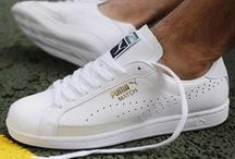 PUMA #UNMATCHED / It started way back when. In the 60s, PUMA's design teams began to perfect tennis shoemaking. Worn by the likes of Boris Becker and Guillermo Vilas, these shoes changed the game. And then the game became mainstream - and tennis whites, crisp collars, and prep style came to the street. This season, we reissue classic tennis styles. Some are back for the first time. All are #unmatched and ready for more. / by PUMA