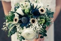 Wedding Bouquets - Blue