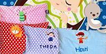 KakaduKid / Personalisierte Kulturbeutel und Kissen für Kinder
