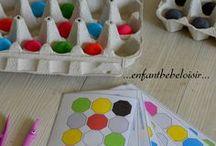 Enfants - Tris - Reproduction de Modèles / Activités Enfants autour du tri, de la manipulation d'objets, activités montessori ou non
