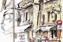 background/urban sketch / background reference urban sketch