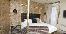 """Room 8: KING DELUXE / Room 8 at the Grove Hotel is just as hip as """"Viva la King"""" himself.  This boutique hotel has 18 individually themed rooms that are seriously sweet-designed specifically to make you not want to go home EVER again!  Come visit us soon!"""