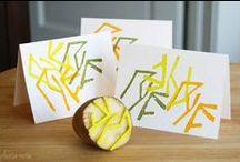 Fruits and vegetables stamps / tampons avec fruits légumes