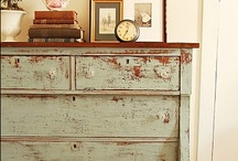 Painted Furniture / Painted, distress furniture make me smile.  This board is packed full of simple tutorials and inspiration on how to give new life to your furniture.