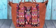 Gypsies + Debutantes Bags / Bags made from recycled mayan blouses.