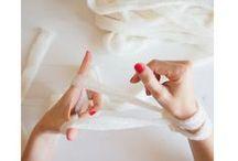 Finger knitting - tricoter sur sa main