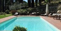 The swimming pool / Take a look at the swimming pool at Fagiolari! After a trip to Florence or Siena, why don't relax with a good swim and a glass of Chianti wine?