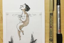 my sketchbook / Random sketches from my desk