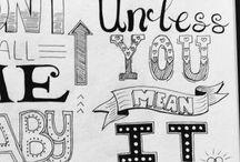 Zelf gemaakt / #Handletteren #quotes