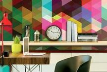 Modern geometry - home decor ideas / Do you also find geometric style from XX century worth going for? Amazing patterns from 80's, vibrating colours from 60's and creative attitude towards design in Bauhaus are just the beginning. Even most creative geometric decorations can be found in Scandinavian and XIX century style – get inspired and shop this look in your home with stylish paintings, wallpapers and other home decorations from bimago.