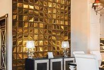 Let it shine! Golden&metallic wall decorations