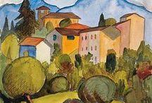 Hermann Hesse's watercolors / Beauty of wandering...