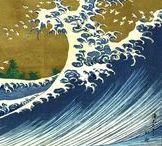 Hokusai e dintorni / Van Gogh è stato un grande estimatore dell'arte orientale e un accanito collezionista di stampe di Hiroshige e di Utamaro.  Sotto questa influenza cominciò a riversare nelle sue opere quel ricco repertorio iconografico piegandolo al proprio  personalissimo stile. Questa bacheca, andando un po' fuori tema, raccoglie un po' di queste suggestioni.