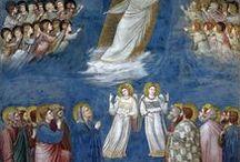 Il Vangelo secondo Giotto / Affreschi di Giotto, per lo più dalla Cappella degli Scrovegni a Padova. Consiglio di andarci e intanto di registrarvi gratuitamente a http://www.haltadefinizione.com/it/gallery/giotto-di-bondone-cappella-degli-scrovegni e ammirarla