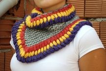 SCARVES, COWLS & other neck warmers / Patterns and ideas for crocheting and knitting scarves, cowls and other neck warmers