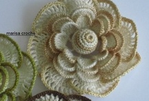 FLOWERS: crocheting, knitting