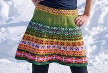 SKIRTS, PANTS: crocheting & knitting