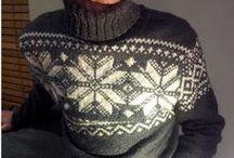 MEN: knitting and crocheting