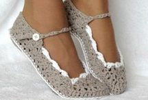 SHOES & SLIPPERS: crocheting and knitting