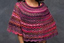 PONCHOS: crocheting, knitting