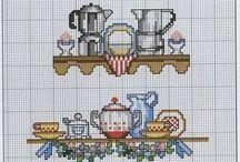 Cross stitch lover (kitchen stuff)