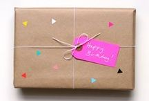 Wrap it yourself! / Inspiratie om cadeaus in te pakken
