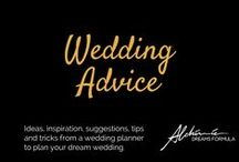 Wedding Advice / Ideas, inspiration, suggestions, tips and tricks from a wedding planner to plan your dreaming wedding.