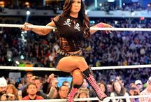Aj lee on the ropes