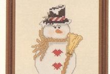 Cross-Stitch (Snowmen)