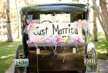 Just Married ♥ cars & signs