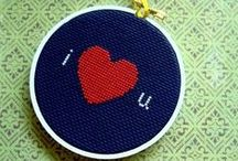 Cross stitch/Embroidery hoops / by Christyn McFarland