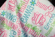 Personalized Baby Blankets / Personalized receiving blankets for little ones - perfect for baby shower gift or baptisms.