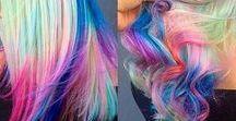 Hair: Roxy Marlene / Unicorn hair or blonde with random colors through it.