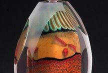 ART GLASS PERFUME BOTTLES / Beautiful.  Simply beautiful. / by Ronni Rittenhouse